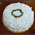 Torta di rose natalizia