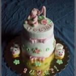 torta primo compleanno bimba