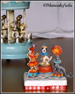 il circo topper in pasta di zucchero circus cake topper