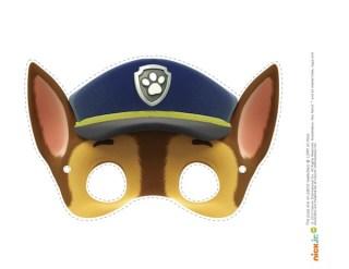 chase mask Paw patrol cake toppersCake Paw Patrol, Bday, Patrol Birthday,