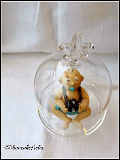BABY BOY CHRISTENING FIRST BIRTHDAY CAKE TOPPER DECORATION