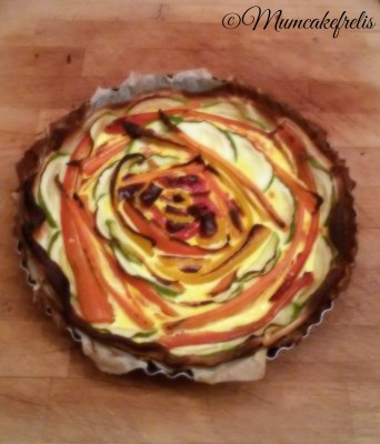 "beautiful vegetable tart recipe torta salata con zucchine e carote ""effetto scenografico"""