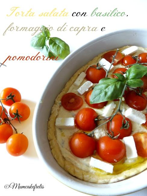 goat chese, tomato & basil tart