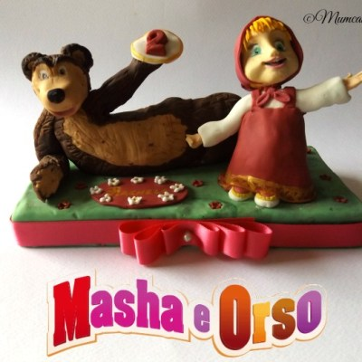 Masha e Orso cake topper per Rachele
