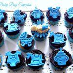 Cupcakes alla mandorla con ganache per nascituro