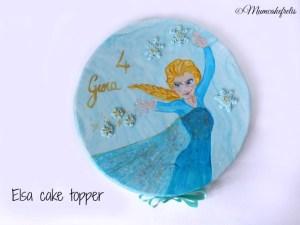 Elsa painting cake topper
