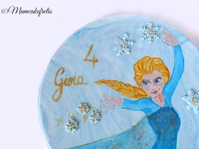 Frozen - Elsa- cake topper, Fondant Gumpaste Elsa Cake Topper