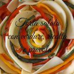 Torta salata con girandola di verdure