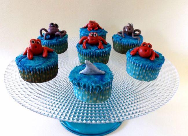 Cupcake con animali del mare