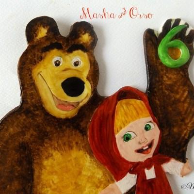 Masha, Orso e Pippi Calzelunghe cake topper