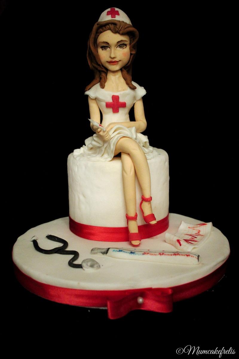 Nurse cake topper