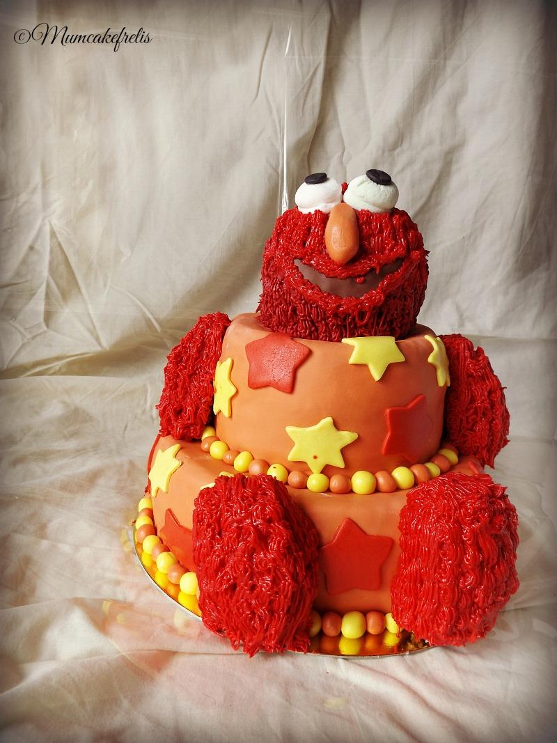 Elmo Sesame Street cake