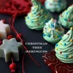 Christmas tree meringues, alberelli di meringhe.