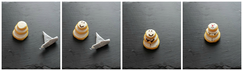 tutorial snowman cookies 2