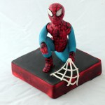 Spider-Man Gum Paste Figurine Cake Topper