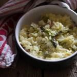 Risotto con uova e asparagi