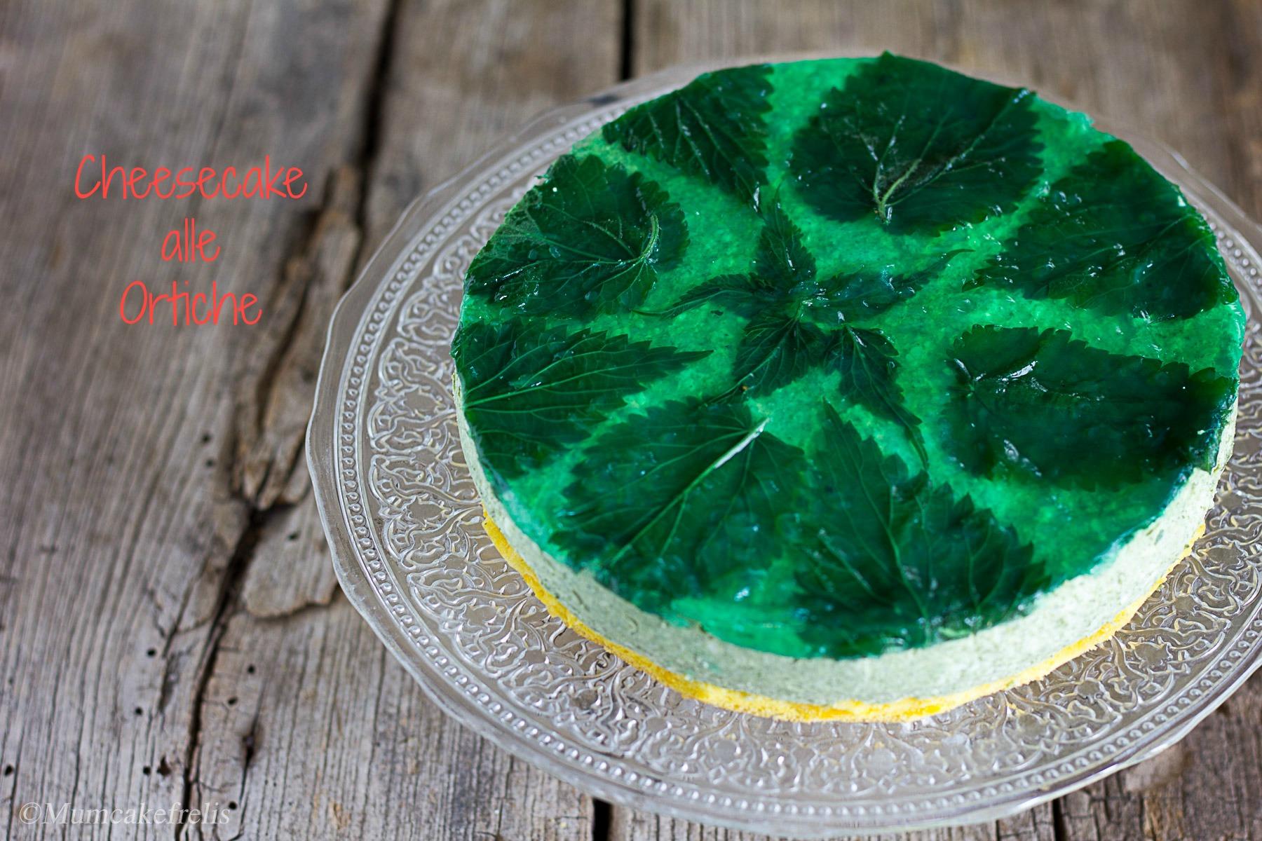 cheesecake particolare con ortiche