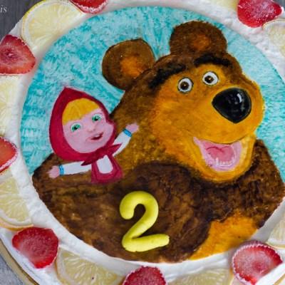 Cheesecake fragola e limone con Masha e Orso