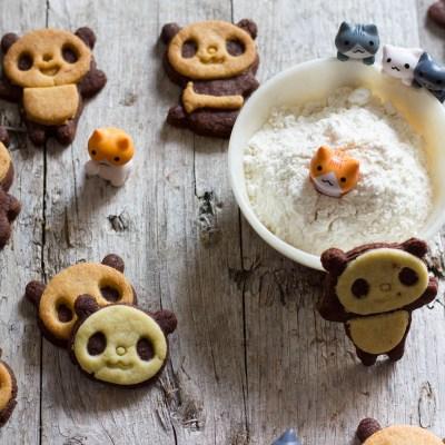 Biscotti panda, cookie bicolor!