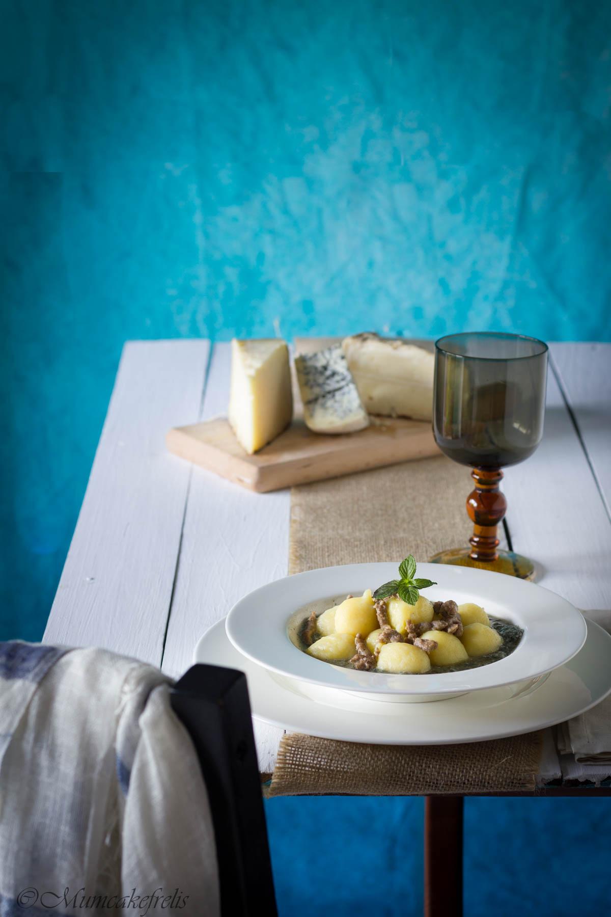 gnocchi ripieni di formaggio e menta