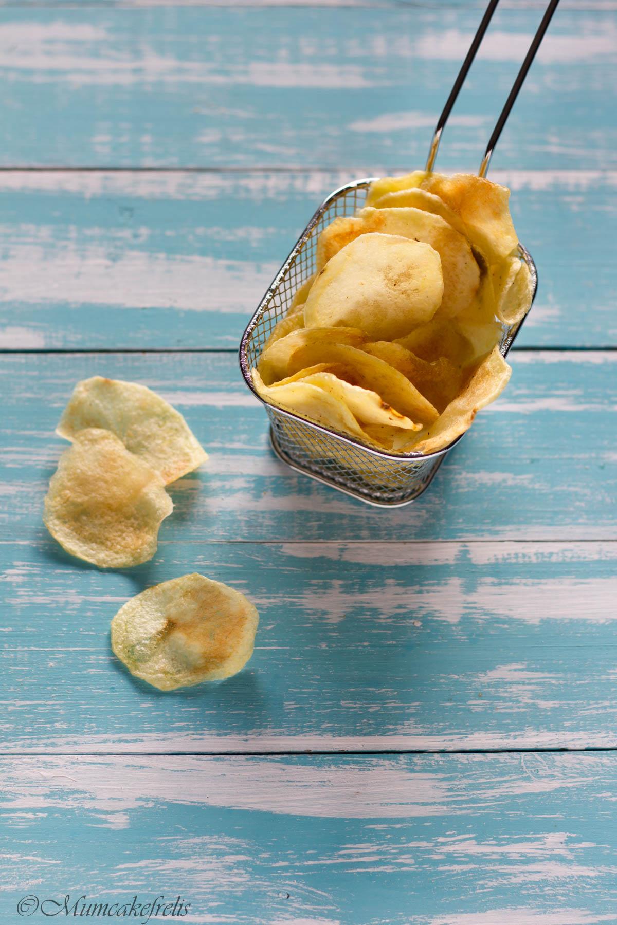 chips di patate fatte in casa