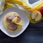 medaglioni di manzo su mele