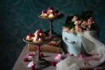 cheesecake con rose e lamponi