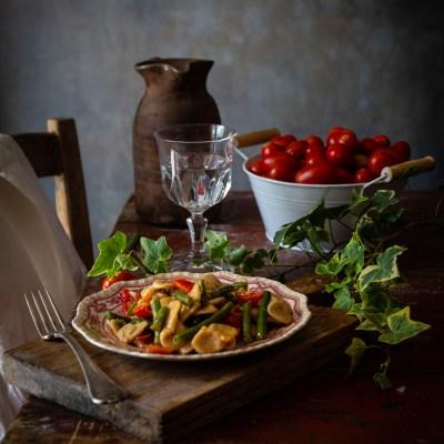 Corzetti avvantaggiati con pomodorini e fagiolini                                        5/5(2)