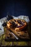 ricetta della schiacciata ciaccia Toscana con uva canaiola