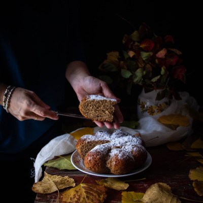 Torta soffice alla panna e caffè d'orzo