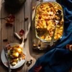 Pasta al forno con zucca e funghi