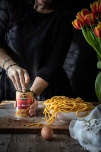 la ricetta dei bigoli al ragù di anatra pronto Serbosco