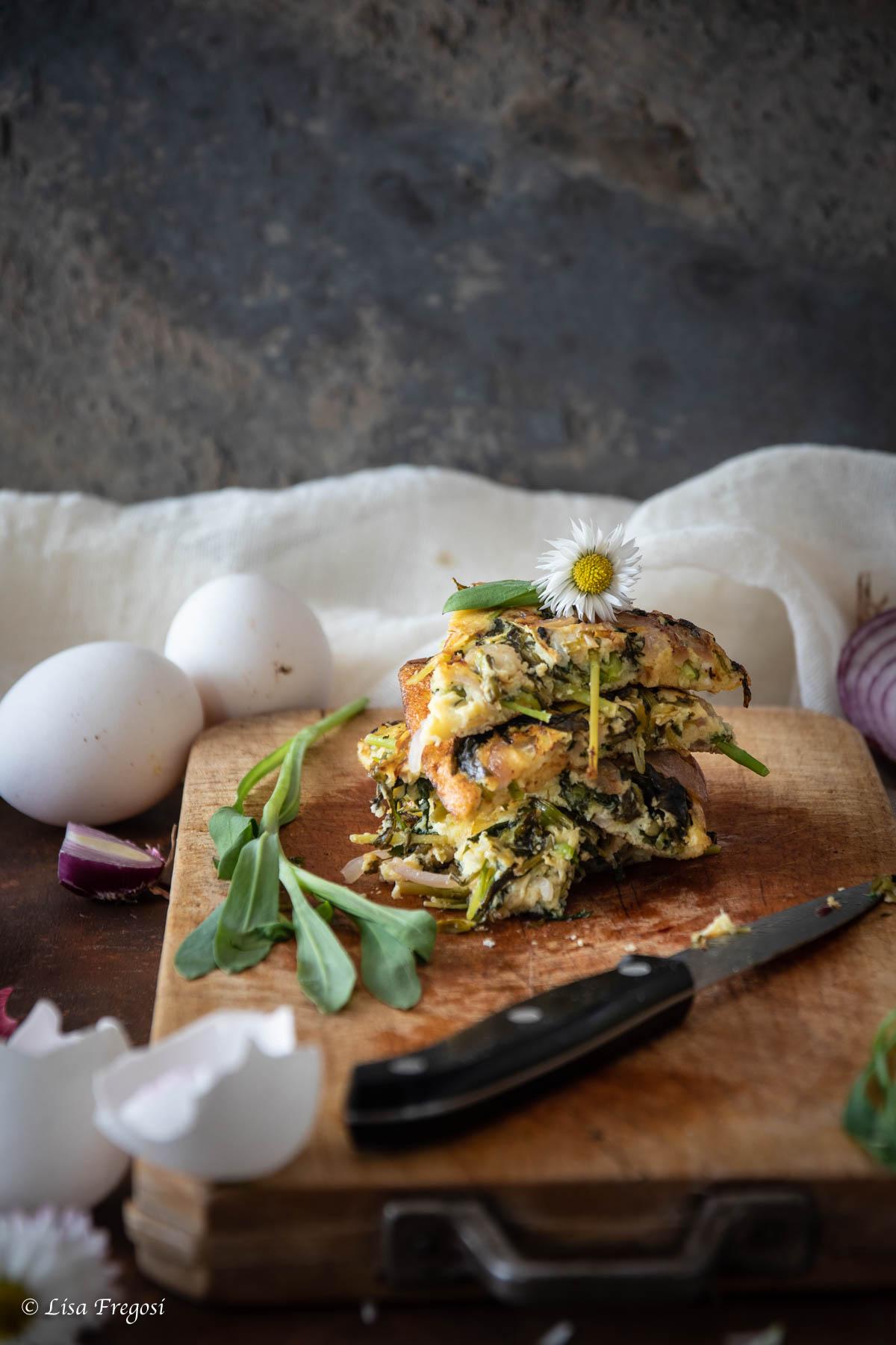 carletti o silene vulgaris, la ricetta della frittata