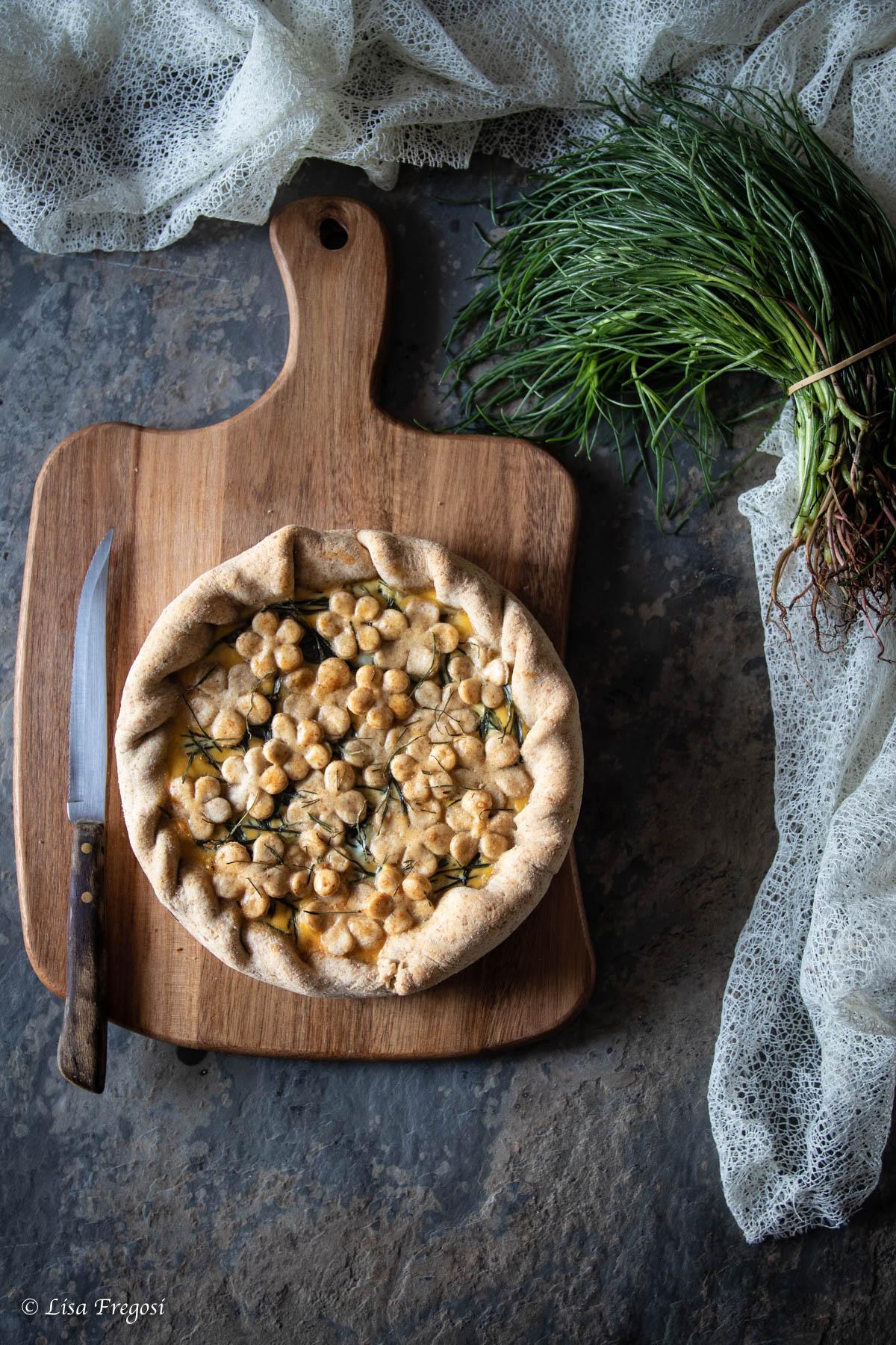 ricette primaverili: torta salata con agretti