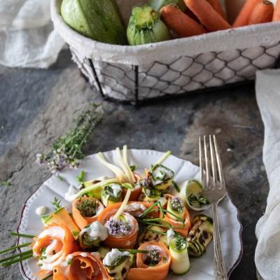 Rotolini di verdure con crema al parmigiano                                        5/5(1)