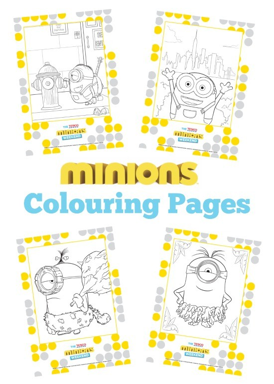 Free Minions Colouring Book Printable And Minion Craft Roundup Mum In The Madhouse