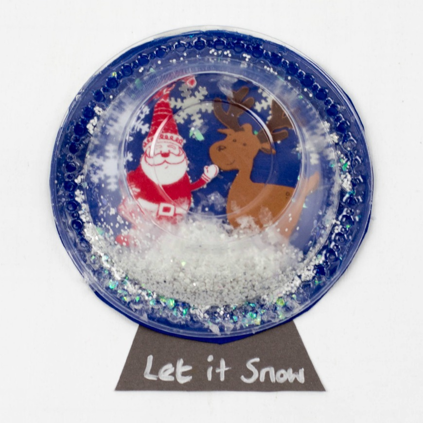 Plastic Bowl Snow Globe Art For Kids Mum In The Madhouse