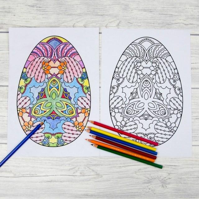 Oeufs mandala à colorier
