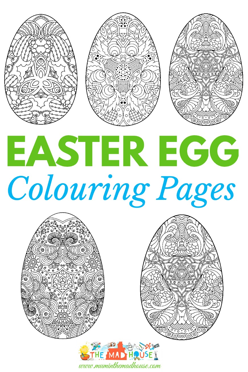 Adult Easter Colouring Pages Intricate Eggs Mum In The Madhouse