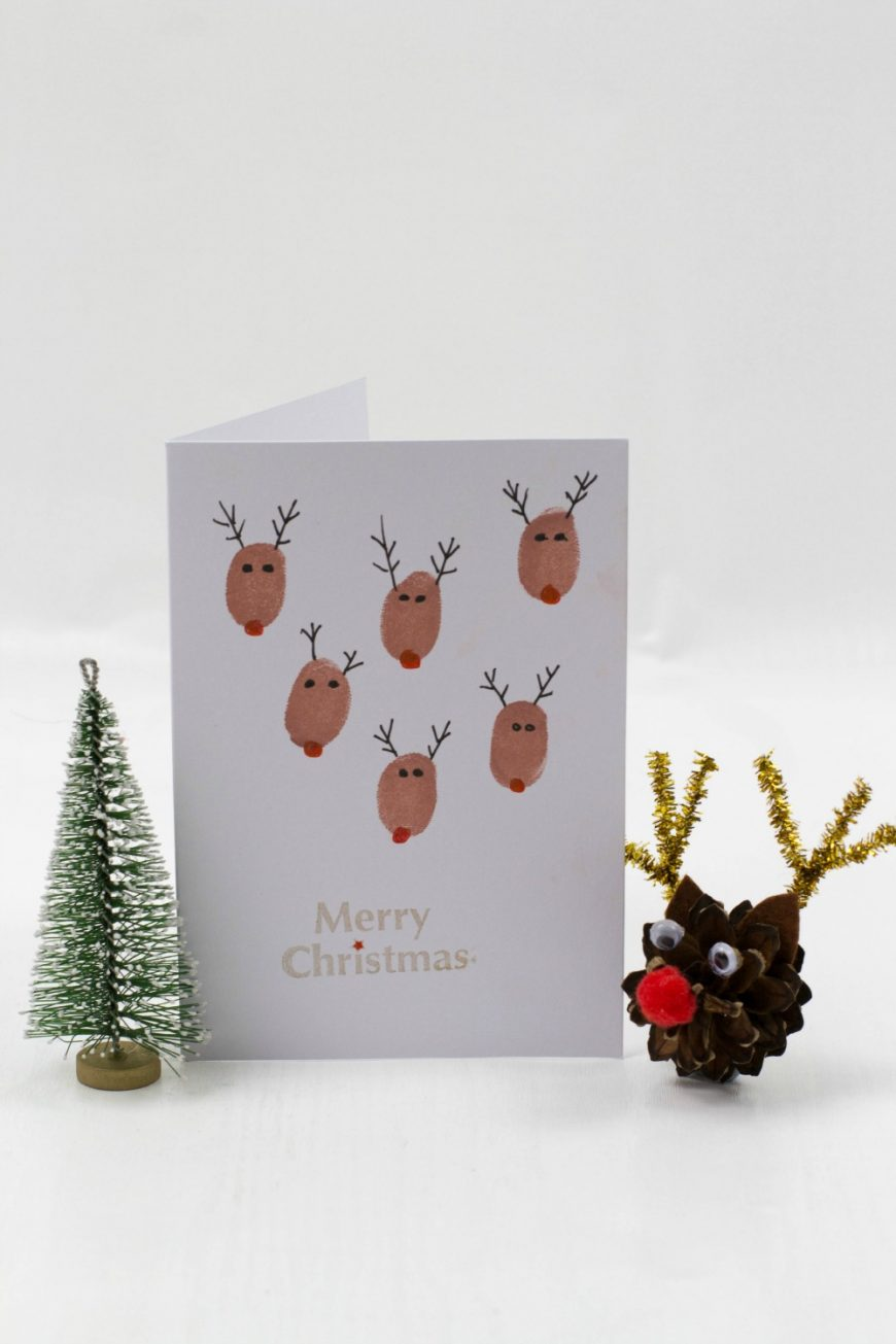 Fingerprint Christmas Cards Mum In The Madhouse