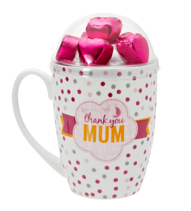 Mother's Day Mug with Milk Truffle Hearts