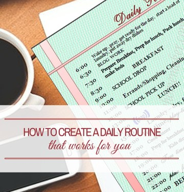 create a Daily Routine
