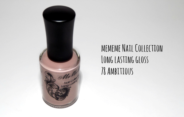 mememe nail collection long lasting gloss 78 ambitious