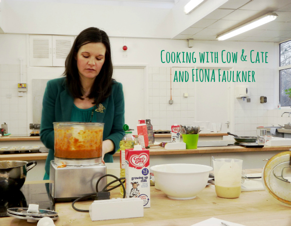 Fiona Faulker showing us how to make a homemade tomato sauce with hidden vegetables
