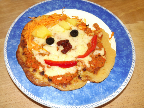 My pancake pizza face