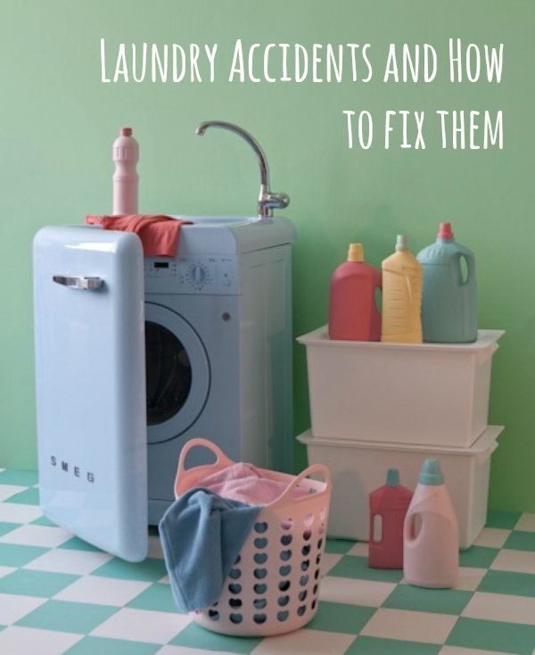 laundry calamities and how to fix them, laundry accident, dyeing accident, shrunk clothes