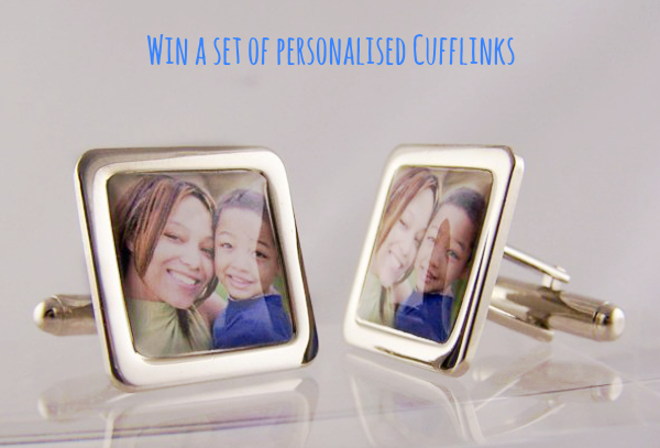 personalised cufflinks for Father's Day, Father's Day gift guide, Father's Day gift ideas, photo cufflinks