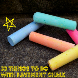 chalk activities, things to do with pavement chalk, things to do with chalk