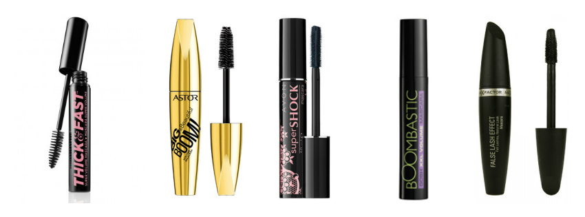 top mascaras, best mascaras uk, thick and fast soap and glory, astor big and beautiful book, avon super shock mascara, boomtastic gosh, false lash effect maxfactor
