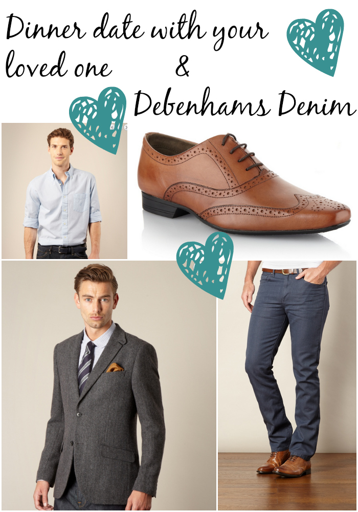 dinner date outfit with debenhams denim
